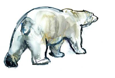 Polar Bear Painting - Glacier Mint by Mark Adlington