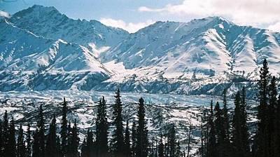 Art Print featuring the photograph Glacier  Mountains by Judyann Matthews