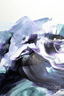 Waves Painting - Glacier Mountains by PrintsProject