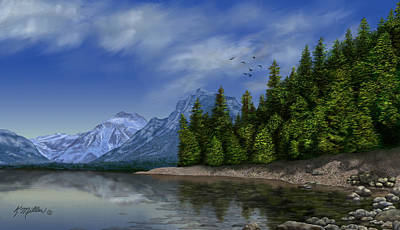 Painting - Glacier Naional Park by Kathie Miller
