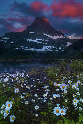 Photograph - Glacier National Park At Dawn by William Lee