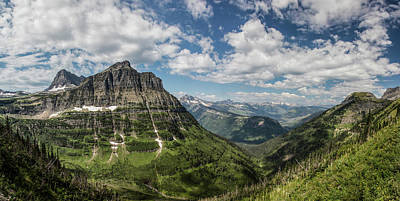 Photograph - Glacier National Park High-line Trail 1 by John McGraw