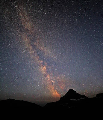 Photograph - Glacier National Park Milky Way by Jean Clark