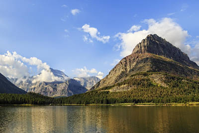 Photograph - Glacier National Park Mountains by Kay Brewer