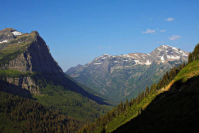 Glacier National Park Mt - View From Going To The Sun Road Art Print