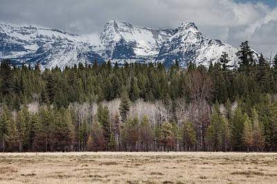 Photograph - Glacier National Park Peaks by Fran Riley