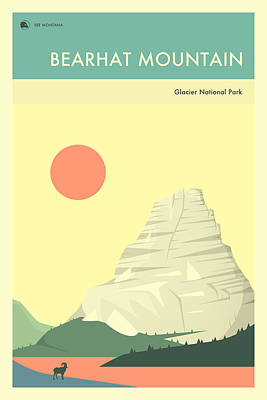 Glacier National Park Digital Art - Glacier National Park Poster by Jazzberry Blue