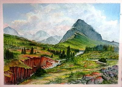Painting - Glacier National Park  by Richard Benson