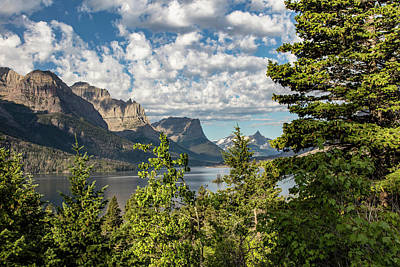 Photograph - Glacier National Park St Mary Lake 1 by John McGraw