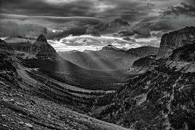 Photograph - Glacier National Park Sunrise by Jedediah Hohf