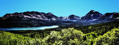 Photograph - Glacier National Park Views Panorama No. 01 by Roger Passman