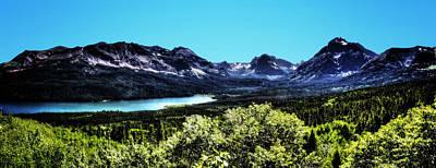 Photograph - Glacier National Park Views Panorama No. 01 by Roger Passman