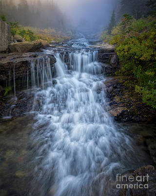 Photograph - Glacier National Park Waterfall by Jerry Fornarotto