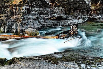 Photograph - Glacier National Park Mcdonald Waterfalls by Kay Brewer