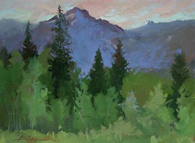 Betty Billups Wall Art - Painting - Glacier Nat'l Park - Plein Air -  Rising Wolf Ranch by Betty Jean Billups