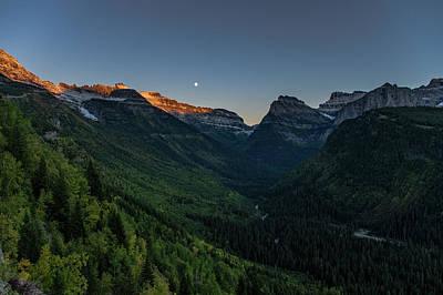 Photograph - Glacier Park Evening, Montana by Jedediah Hohf