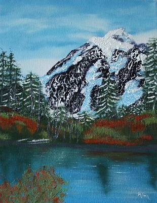 Painting - Glacier Park  by Kimber  Butler