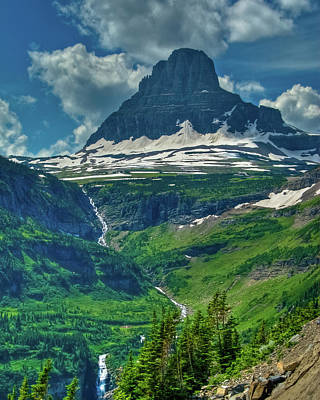 Photograph - Glacier Park Valley View by Harry Strharsky
