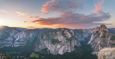Photograph - Glacier Point Sunset by Michael Ver Sprill