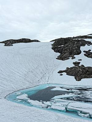Photograph - Glacier Pool, Norway, July 2014 by Chris Honeyman