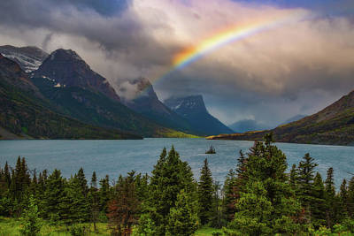 Montana Landscapes Photograph - Glacier Rainbow by Darren White
