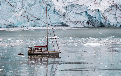 Art Print featuring the photograph Glacier Sailing by Ed Clark