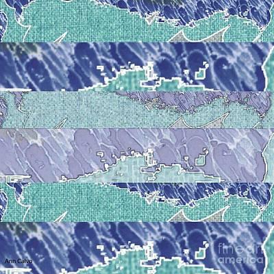 Mixed Media - Glacier by Ann Calvo