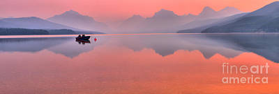 Photograph - Glacier Smokey Summer Reflections by Adam Jewell