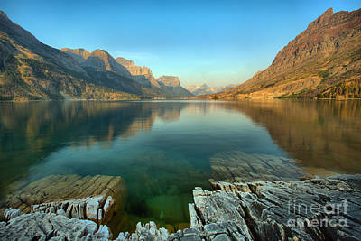 Photograph - Glacier St. Mary Lake Reflections by Adam Jewell