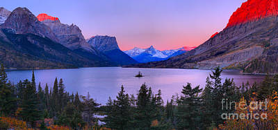 Photograph - Glacier St Mary Lake Sunrise by Adam Jewell