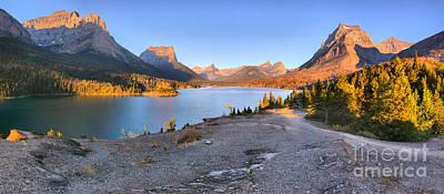 Photograph - Glacier Sun Point Sunrise by Adam Jewell