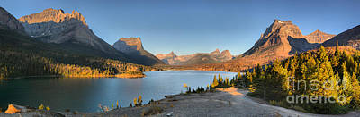 Photograph - Glacier Sun Point Sunrise Panorama by Adam Jewell