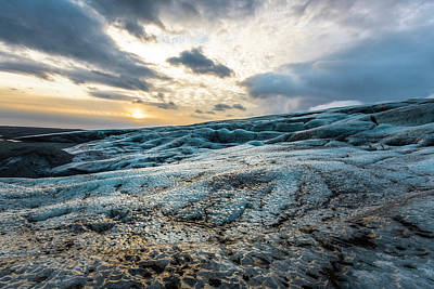 Photograph - Glacier Sunrise by Scott Cunningham