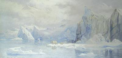 Norwegian Painting - Glacier by Tristram Ellis