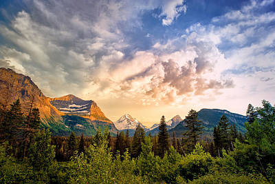 Photograph - Glacier Valley Sunset  by Renee Sullivan