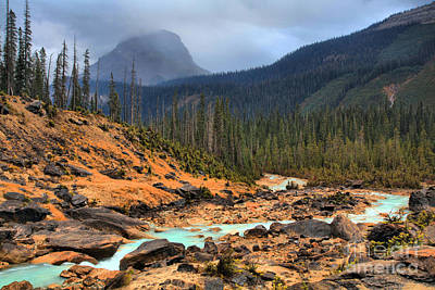 Photograph - Glacier Waters Flowing Through Yoho National Park by Adam Jewell