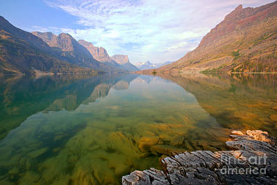 Photograph - Glacier Wild Goose Morning by Adam Jewell