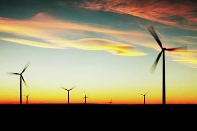 Photograph - Glacier Wind Farm Turbines by Todd Klassy