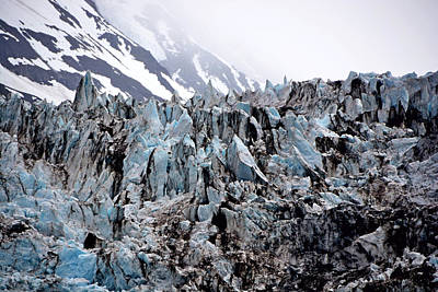 Photograph - Glaciers Closeup - Alaska by Lorenzo Cassina