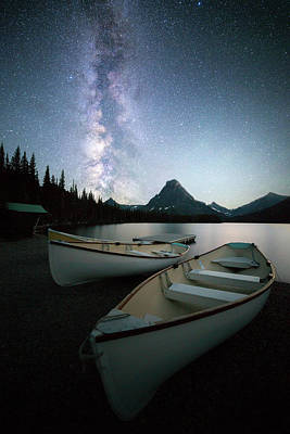 Photograph - Glacier's Midnight Dream // Two Medicine Lake, Glacier National Park  by Nicholas Parker