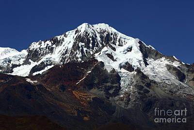Glaciers Of Mt Illampu Bolivia Art Print