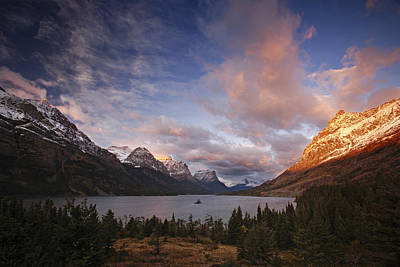 Photograph - Glaciers Surround Saint Mary Lake by Michael Melford