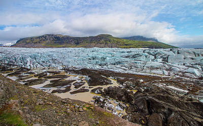 Photograph - Glacier,vatnajokull National Park, Iceland by Venetia Featherstone-Witty