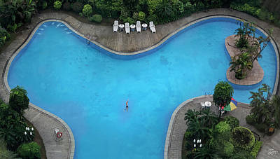 Photograph - Gladden Hotel Pool In Shilong China by Endre Balogh