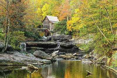 Glade Creek Grist Mill #1 Art Print by Tom and Pat Cory