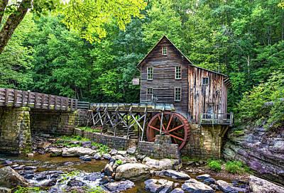 Grist Mill Photograph - Glade Creek Grist Mill 2 by Steve Harrington