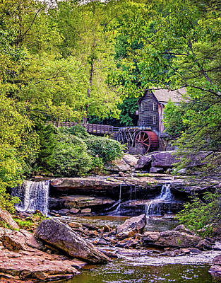 Grist Mill Photograph - Glade Creek Grist Mill 3 by Steve Harrington
