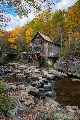 Photograph - Glade Creek Grist Mill Babcock State Park by Rick Dunnuck