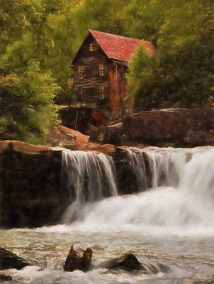 Mixed Media - Glade Creek Grist Mill by Dan Sproul