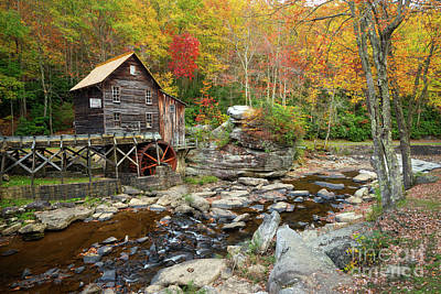 Photograph - Glade Creek Grist Mill In Autumn by Benedict Heekwan Yang